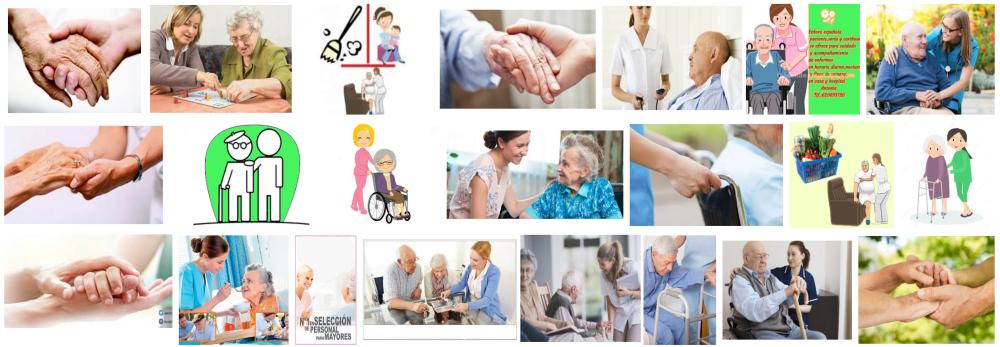 Foto de cuidadoras entablando conversación con personas mayores a domicilio en Barcelona
