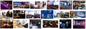 Foto de eventos de empresa a domicilio en Barcelona de muchas personas reunidas.