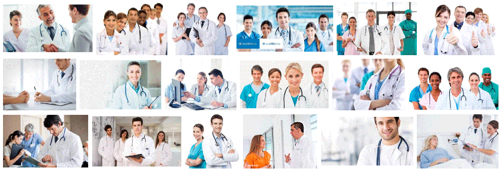 Foto de médicos a domicilio en Barcelona trabajado con la bata blanca