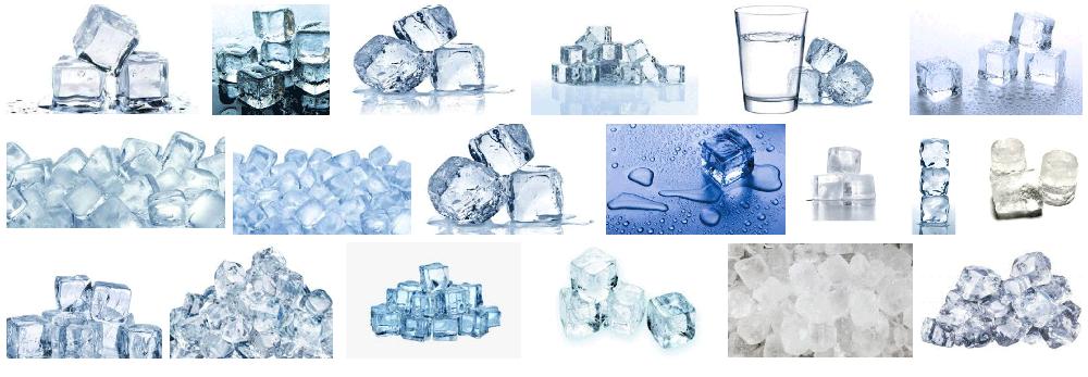 Foto de hielo congelado a domicilio en Barcelona en forma de cubitos