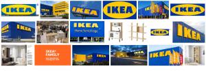 Foto del logo de Ikea que te transporta sus muebles a tu domicilio en Barcelona