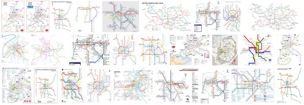 Foto de un Plano del metro a domicilio en Barcelona con las vías subterráneas