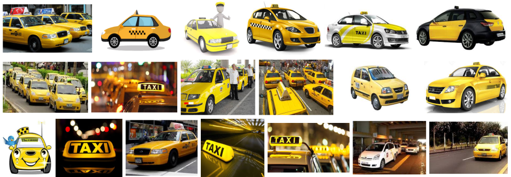 Fotos de Taxi a domicilio en Barcelona de color amarillo