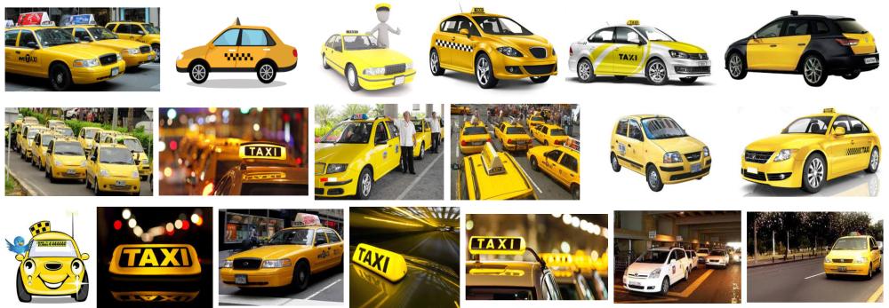 Fotos de Taxi a domicilio en Barcelona de color amarillo