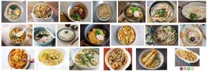 Foto de varios Udon a domicilio en Barcelona cocinados en un restaurante japonés